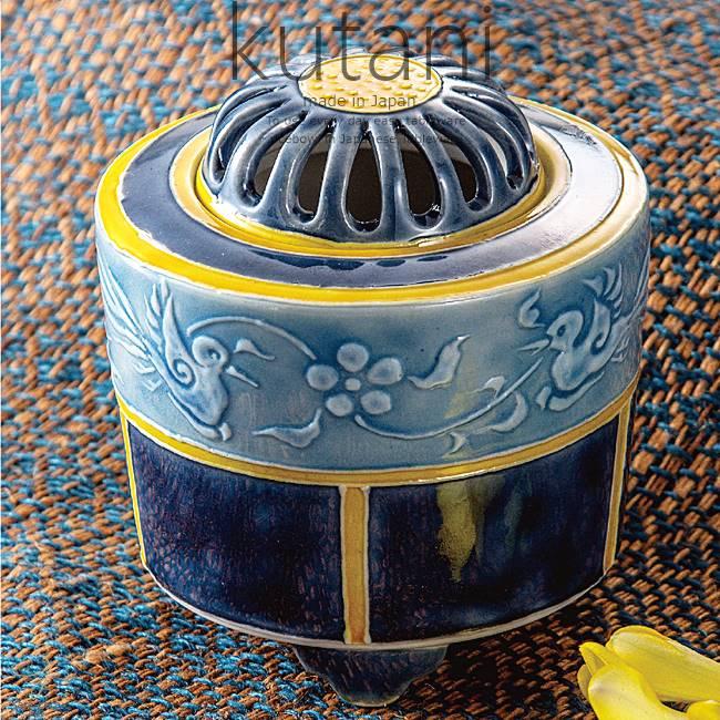 九谷焼 3.2号香炉 筆盛双鳥文 和食器 日本製 ギフト おうち ごはん うつわ 陶器