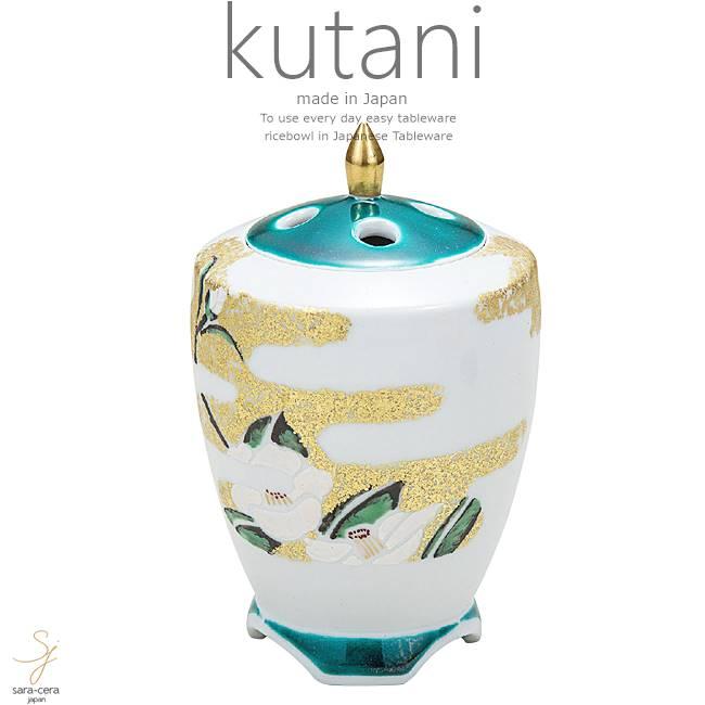 九谷焼 4.5号香炉 金彩椿 和食器 日本製 ギフト おうち ごはん うつわ 陶器