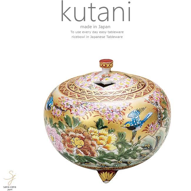 九谷焼 4号香炉 本金花鳥 和食器 日本製 ギフト おうち ごはん うつわ 陶器
