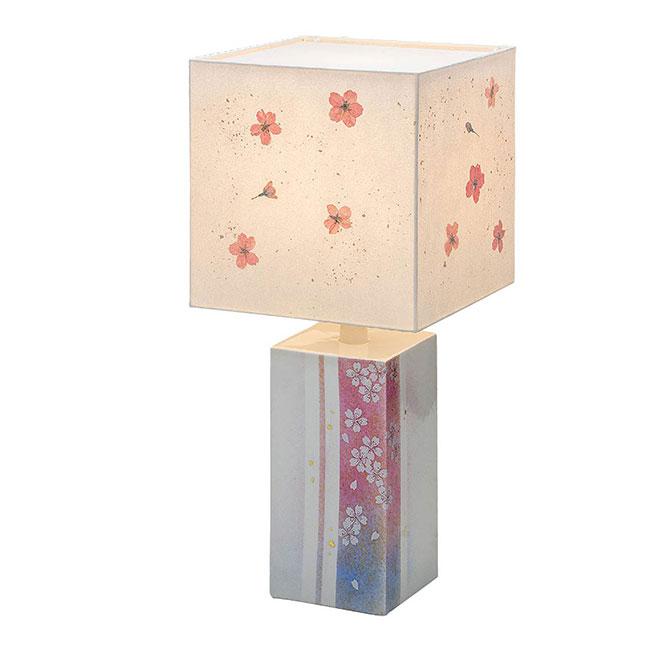 九谷焼 ランプスタンド 桜 和食器 日本製 ギフト おうち ごはん うつわ 陶器