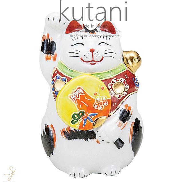 九谷焼 3.5号左団扇招き猫 三毛 和食器 日本製 ギフト おうち ごはん うつわ 陶器