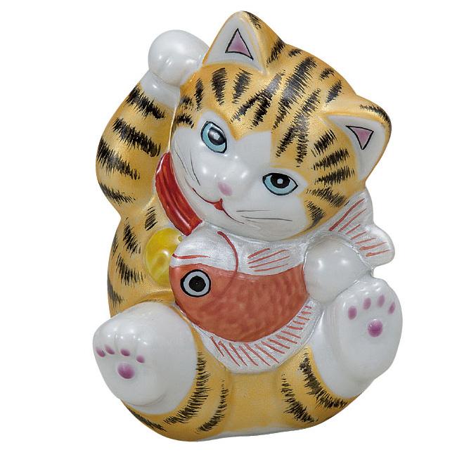 九谷焼 3.8号鯛招き猫 金彩 和食器 日本製 ギフト おうち ごはん うつわ 陶器