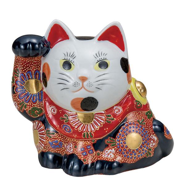 九谷焼 5号横座り招き猫 盛 和食器 日本製 ギフト おうち ごはん うつわ 陶器