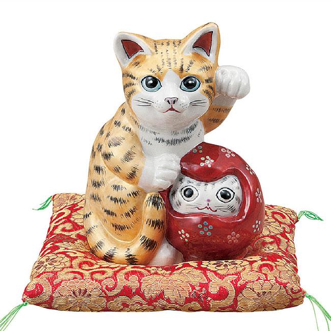 九谷焼 5号達磨招き猫 金彩 和食器 日本製 ギフト おうち ごはん うつわ 陶器
