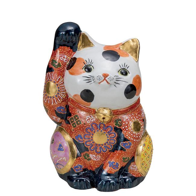 九谷焼 7号招き猫 三毛盛 和食器 日本製 ギフト おうち ごはん うつわ 陶器