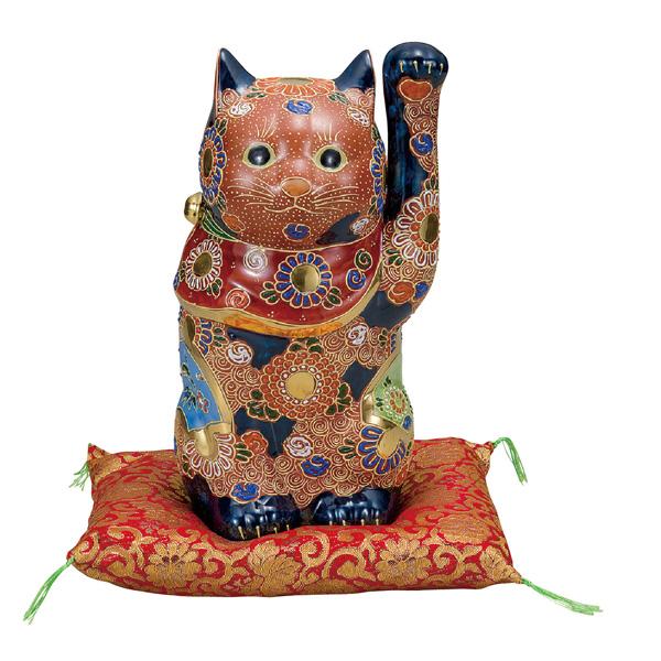 九谷焼 8号招き猫 盛 和食器 日本製 ギフト おうち ごはん うつわ 陶器