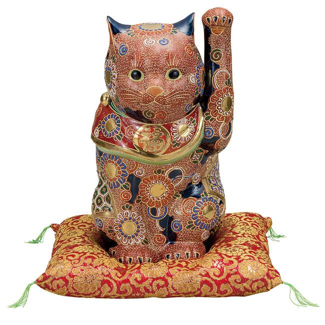 九谷焼 10号招き猫 盛 和食器 日本製 ギフト おうち ごはん うつわ 陶器
