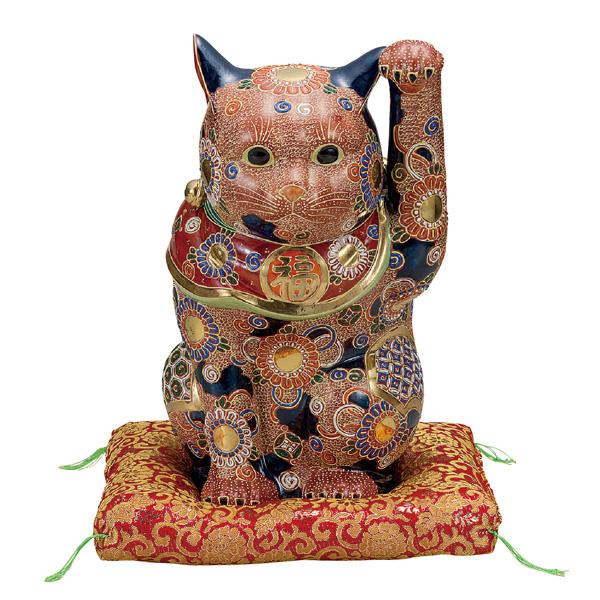九谷焼 12号招き猫 盛 和食器 日本製 ギフト おうち ごはん うつわ 陶器