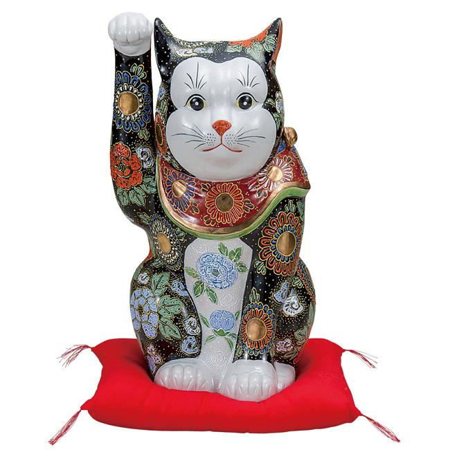 九谷焼 12号招き猫 黒盛 和食器 日本製 ギフト おうち ごはん うつわ 陶器