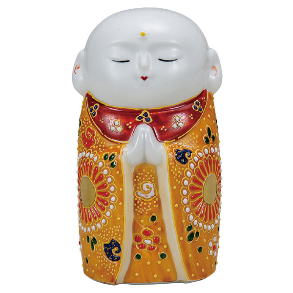 九谷焼 4.5号お地蔵様 金茶盛 和食器 日本製 ギフト おうち ごはん うつわ 陶器