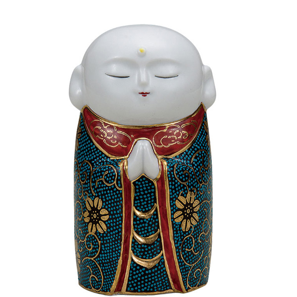 九谷焼 4.5号お地蔵様 青粒鉄仙 和食器 日本製 ギフト おうち ごはん うつわ 陶器