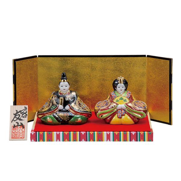 九谷焼 3号雛人形 金彩錦盛 和食器 日本製 ギフト おうち ごはん うつわ 陶器