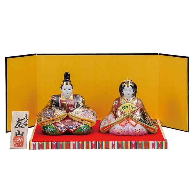 九谷焼 5号雛人形 金彩錦盛 和食器 日本製 ギフト おうち ごはん うつわ 陶器