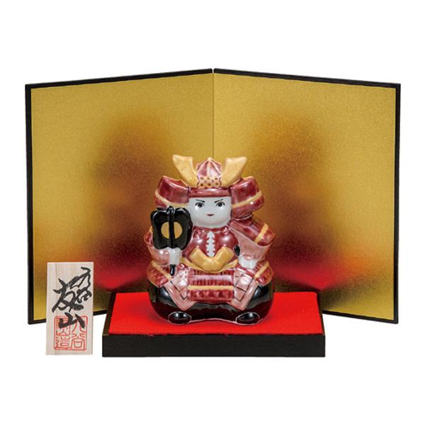 九谷焼 3.5号武者人形 赤備え 和食器 日本製 ギフト おうち ごはん うつわ 陶器