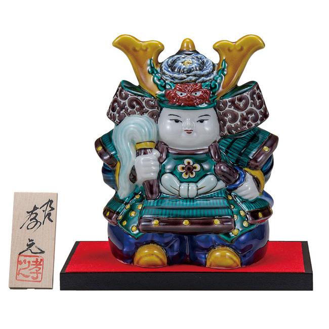 九谷焼 6号武者人形 色絵 和食器 日本製 ギフト おうち ごはん うつわ 陶器
