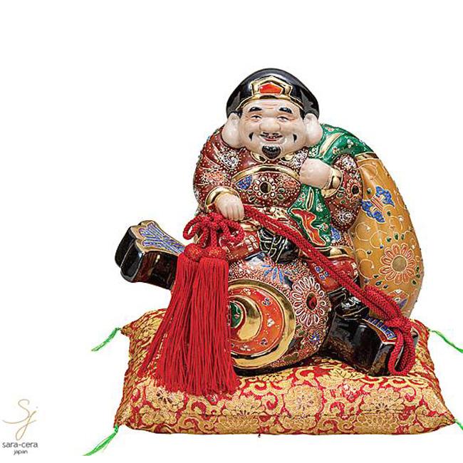 九谷焼 9号小槌乗り大黒 盛 和食器 日本製 ギフト おうち ごはん うつわ 陶器