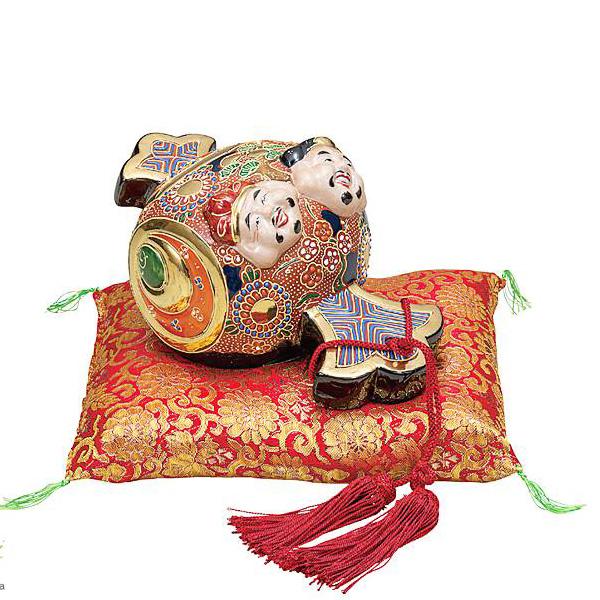 九谷焼 7号小槌 恵比寿大黒 和食器 日本製 ギフト おうち ごはん うつわ 陶器
