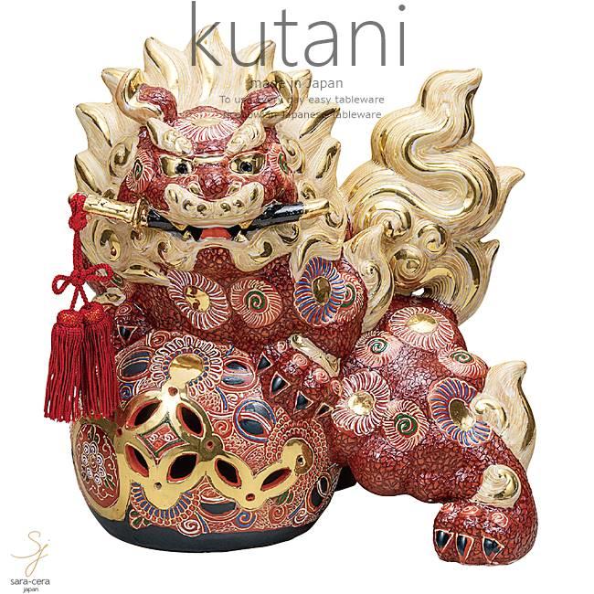 九谷焼 12号剣獅子 盛 和食器 日本製 ギフト おうち ごはん うつわ 陶器