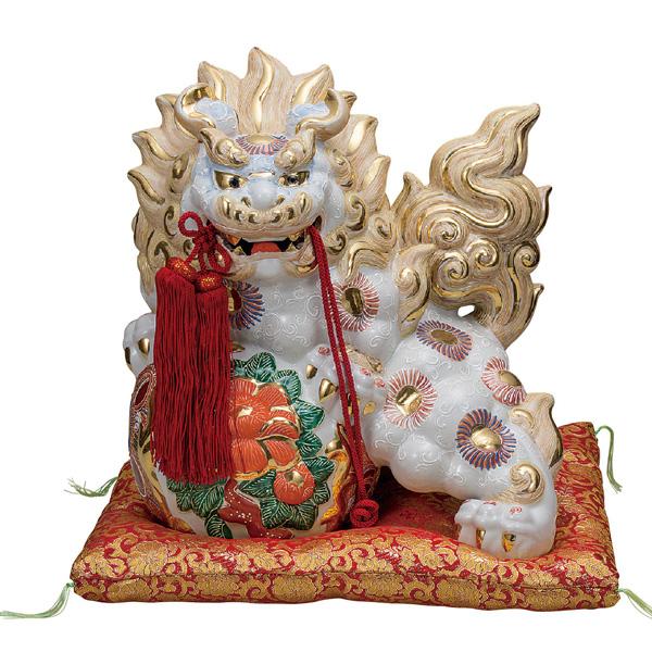 九谷焼 13号牡丹獅子 白盛 和食器 日本製 ギフト おうち ごはん うつわ 陶器