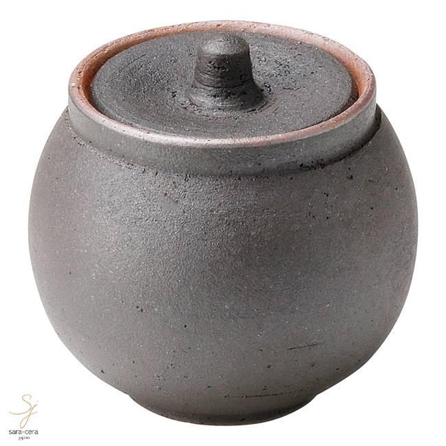 和食器 信楽焼 塩壺 小 黒  おうち カフェ 食器 陶器 しがらき焼 らいすぼ~る 春日井 軽井沢