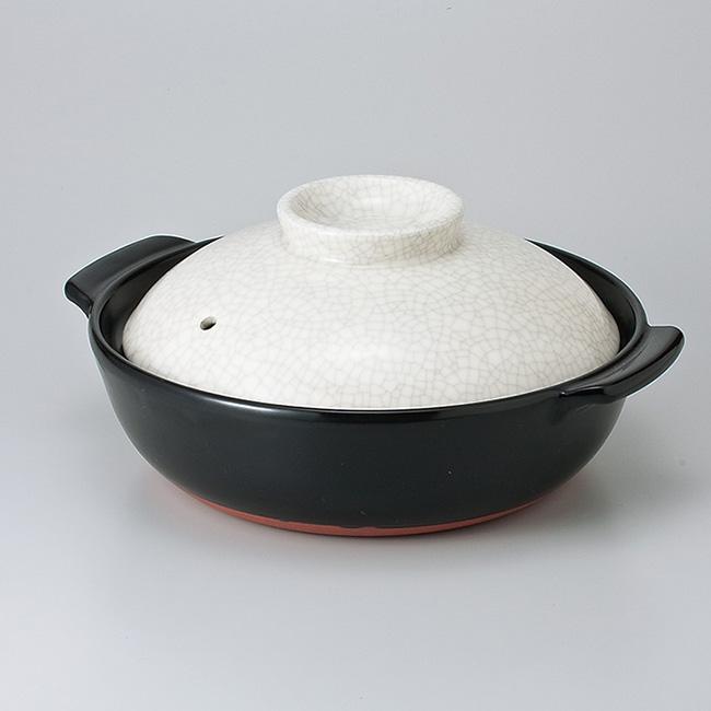 和食器 土鍋 貫入IH対応9.0号深鍋プレート付 万古焼 おうち 食器