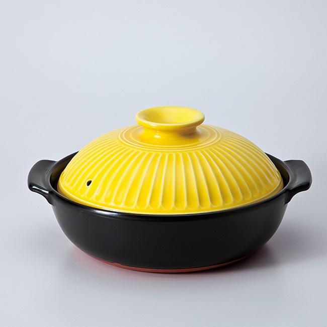 和食器 土鍋 菊花山吹IH対応9.0深鍋プレート付 万古焼 おうち 食器