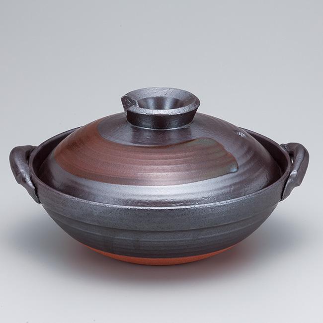 和食器 土鍋 万古焼 伊賀南蛮7.0京型鍋 お鍋 食器 おうち 直火