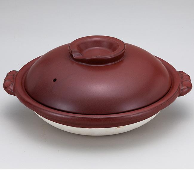 和食器 土鍋 鉄赤8.0スッポン鍋 万古焼 お鍋 直火 食器 おうち ごはん あったか 陶器