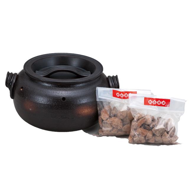 和食器 土鍋 焼いも鍋「いも太郎」石2袋付 万古焼 お鍋 直火 食器 おうち ごはん あったか 陶器