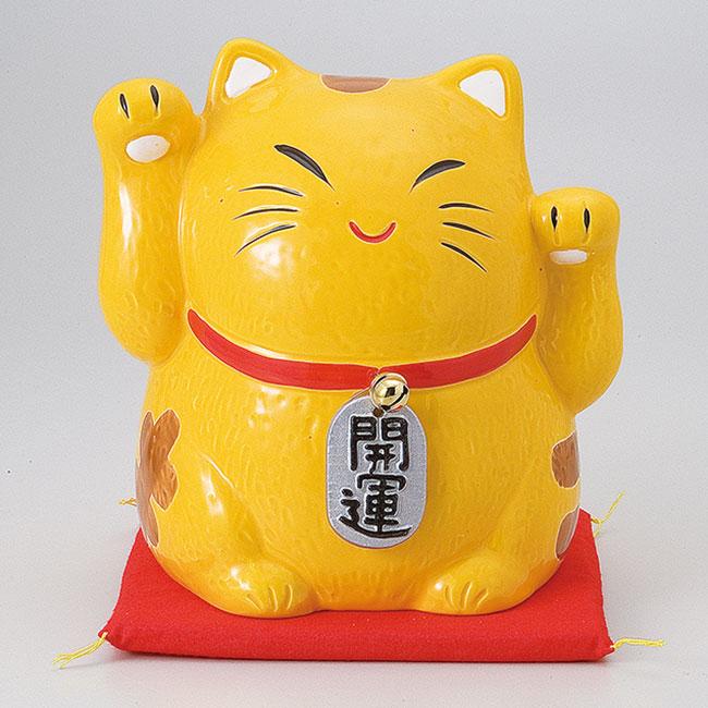 縁起物金運両手招き猫バンク大 ネコ ねこ 置物 ギフト 厄除け 開運 雑貨