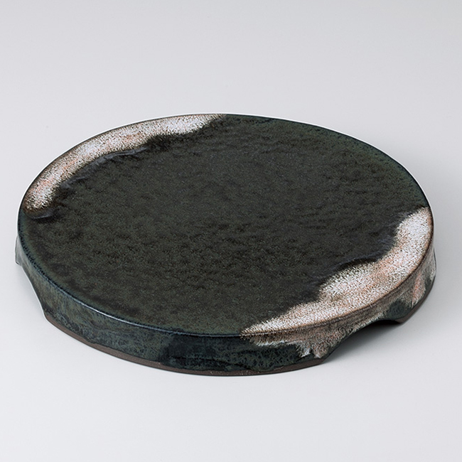 和食器 かのこ高台盛皿大 おうち カフェ 食器 陶器 前菜 焼き物 おしゃれ うつわ 軽井沢 春日井