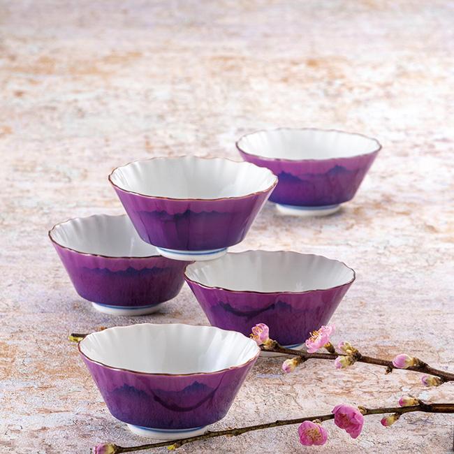 九谷焼 3.5号小鉢揃 連山 5個セット 食器セット 日本製 ギフト うつわ 陶磁器