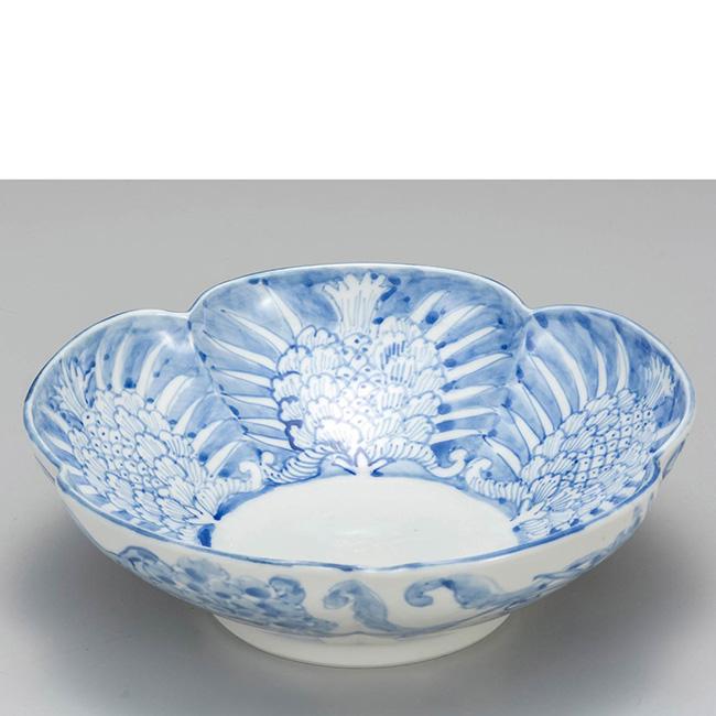 九谷焼 7号鉢 更紗紋 日本製 ギフト うつわ 陶磁器