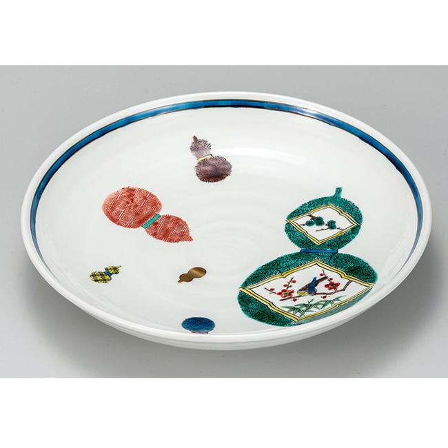 九谷焼 9号盛皿 六瓢 日本製 ギフト うつわ 陶磁器