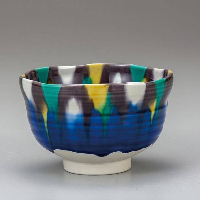 九谷焼 抹茶碗 釉彩 日本製 ギフト うつわ 陶磁器