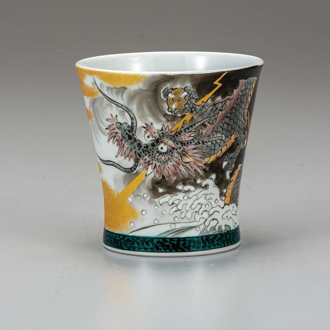 九谷焼 フリーカップ 龍 日本製 ギフト うつわ 陶磁器