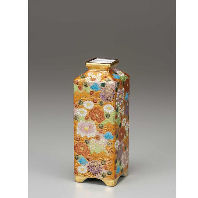 九谷焼 7号寸胴 花詰 日本製 ギフト うつわ 陶磁器
