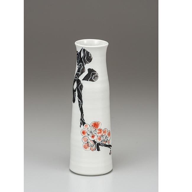 九谷焼 8号寸胴花瓶 花 日本製 ギフト 陶磁器