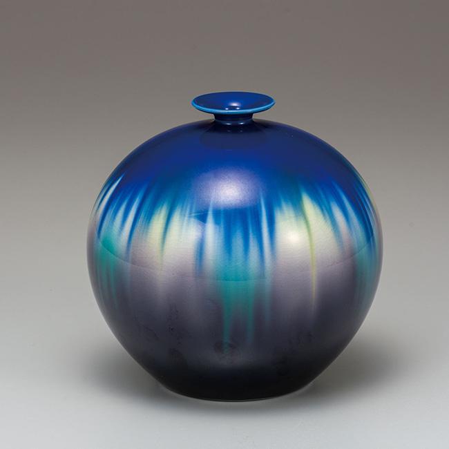 九谷焼 6号花瓶 釉彩 日本製 ギフト 陶磁器