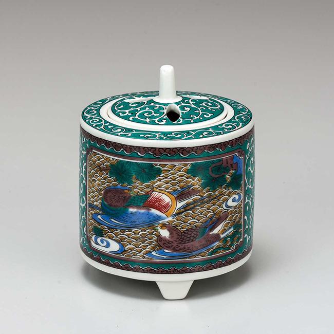 九谷焼 3号香炉 古九谷風 日本製 ギフト 陶磁器