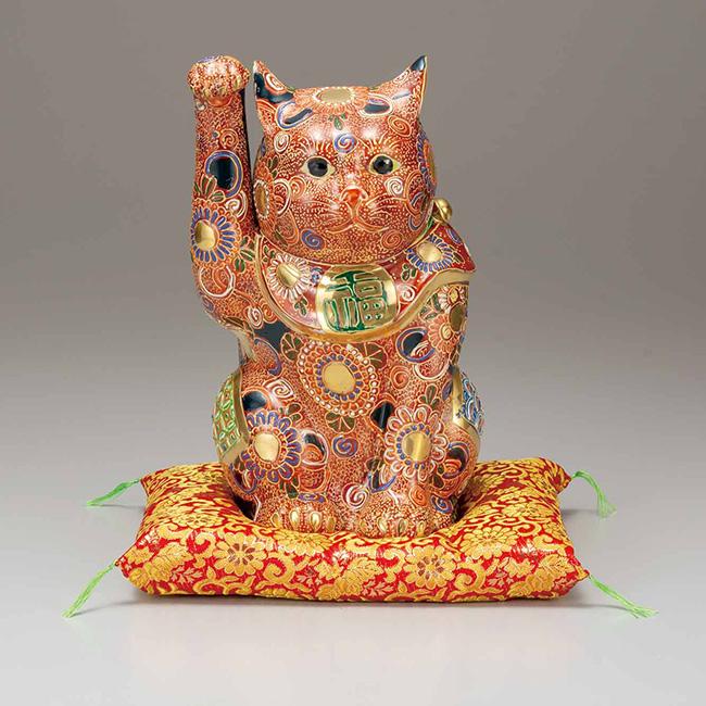 九谷焼 10号招き猫 盛 日本製 ギフト うつわ 陶磁器