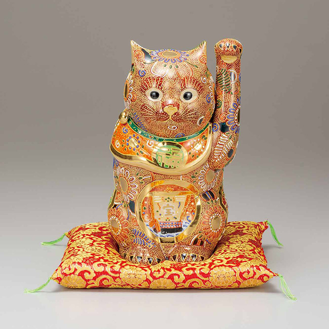 九谷焼 10号招き猫 盛 宝船 日本製 ギフト うつわ 陶磁器