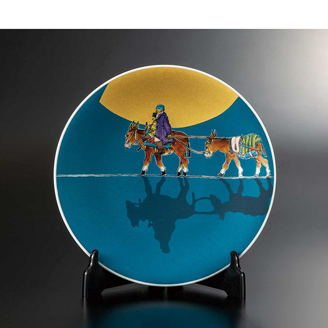 九谷焼 10号飾皿 シルクロード 日本製 ギフト うつわ 陶磁器