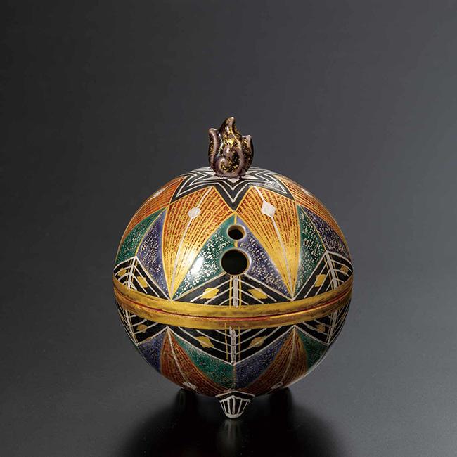 九谷焼 3号香炉 錦繍 日本製 ギフト 陶磁器