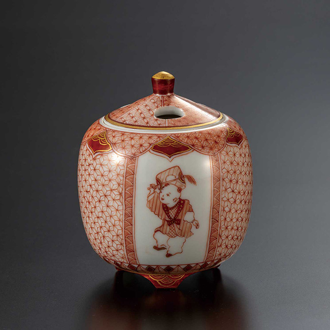 九谷焼 2.8号香炉 からこ文 日本製 ギフト 陶磁器