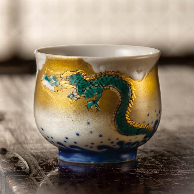 九谷焼 ぐい呑 海龍天翔 日本製 ギフト うつわ 陶磁器