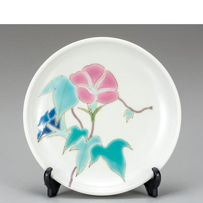 九谷焼 5号飾皿 朝顔 日本製 ギフト うつわ 陶磁器
