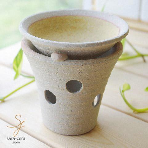 売れ筋 松助窯の手作り茶香炉 お茶の香りに癒されながらお部屋の消臭も 在庫あり 松助窯 茶香炉セット黄釉 和食器 陶器 日本製 美濃焼 アロマ お香
