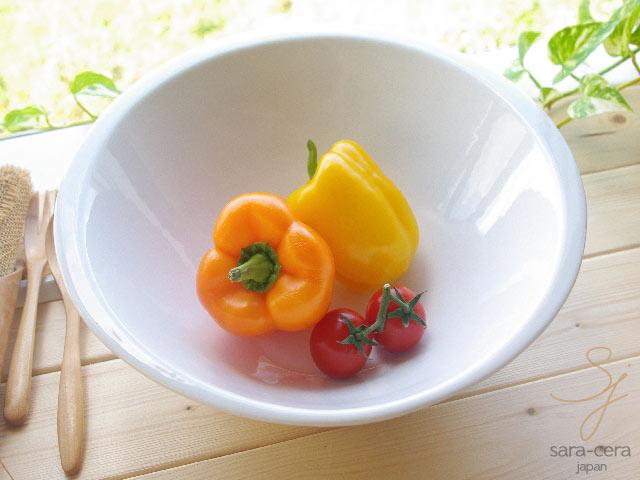 白い食器 超高温1300℃Temperature焼成 パーティーサラダボール 洋食器