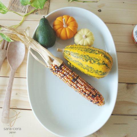 白い食器 36cmオーバルフードパンベーキング Sサイズ (白い食器,洋食器,陶器,皿,楕円)